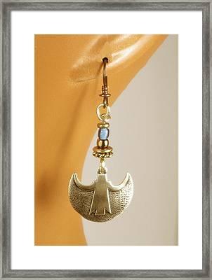 Crescent Goddess Earrings Framed Print by Vagabond Folk Art - Virginia Vivier