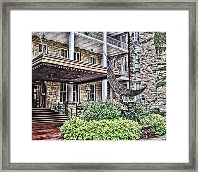 Crescent Hotel Framed Print