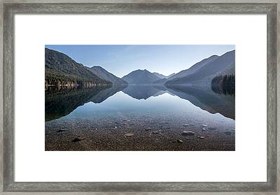 Crescent Lake Reflection Framed Print by Pierre Leclerc Photography