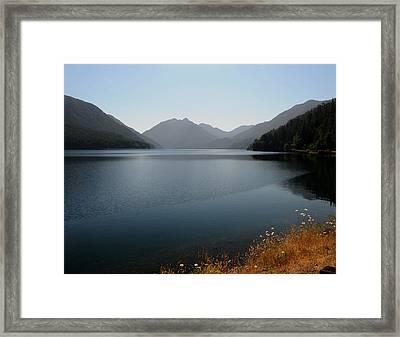 Crescent Lake Framed Print by SEA Art