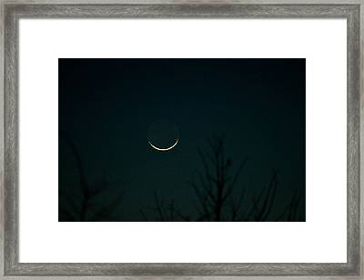 Crescent Moon Framed Print by Jessica Brown