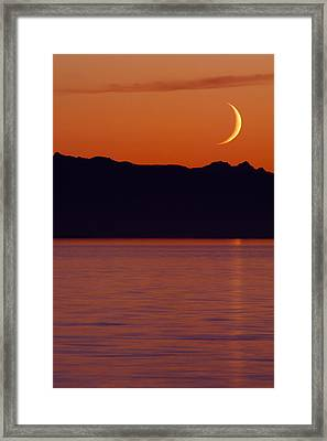 Crescent Moon Framed Print by Jim Lundgren