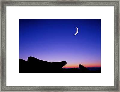 Crescent Moon Halibut Pt. Framed Print by Michael Hubley