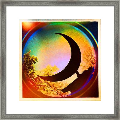 Crescent Moon Over Eureka Springs Framed Print by Garry McMichael