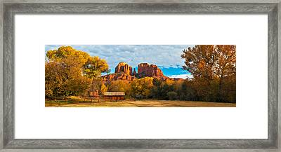 Crescent Moon Ranch Framed Print by Guy Schmickle