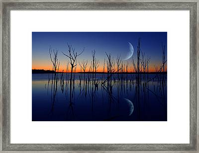 The Crescent Moon Framed Print by Raymond Salani III
