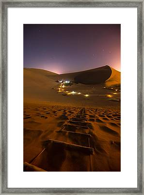 Crescent Moon Spring Framed Print by Aaron Bedell