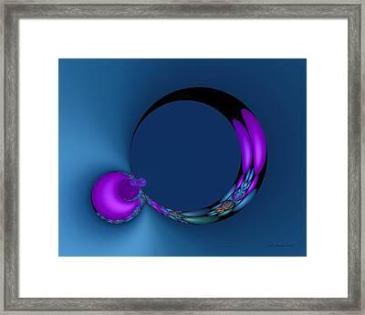 Crescent Moons Framed Print by Judi Suni Hall