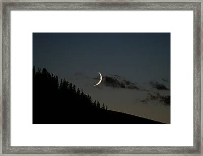 Framed Print featuring the photograph Crescent Silhouette by Jeremy Rhoades