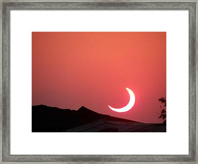 Framed Print featuring the photograph Crescent Sunset by Tom DiFrancesca