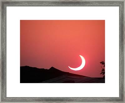 Crescent Sunset Framed Print