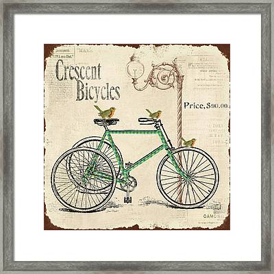 Cresent Bicycles Framed Print