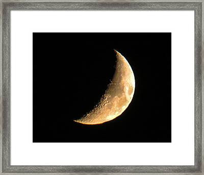 Cresent Moon Framed Print by Dawn Key