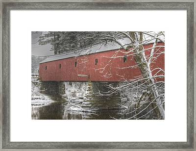Cresson Bridge  Nh Framed Print by Gail Maloney