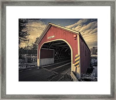 Cresson Covered Bridge Sawyer Crossing Framed Print by Edward Fielding