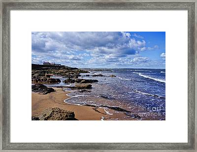 Cresswell Beach And Rocks - Northumberland Coast  Framed Print