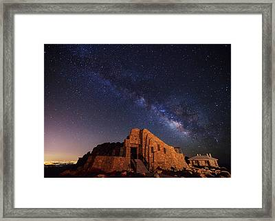 Crest House Milky Way Framed Print by Darren  White
