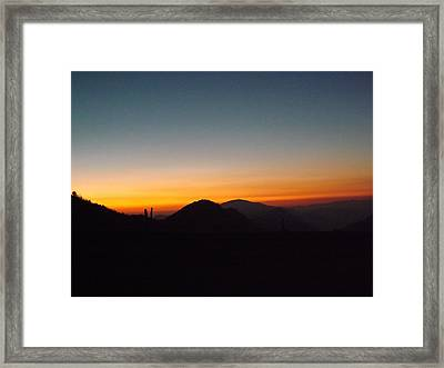 Crest Sunset Framed Print