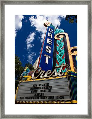 Crest Theater Framed Print