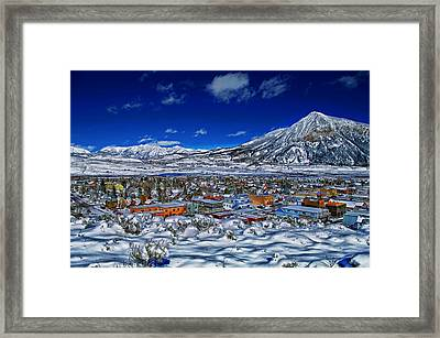 Crested Butte Colorado Framed Print by Mountain Dreams