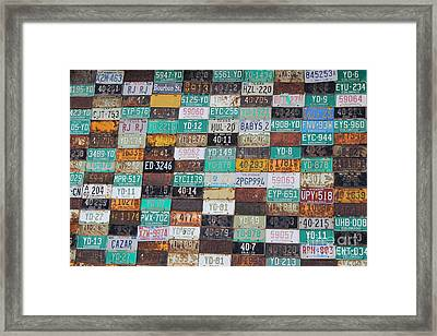 Crested Butte License Plate House Framed Print by Fiona Kennard