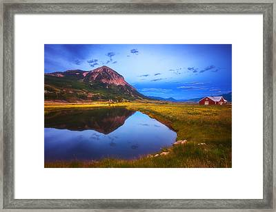 Crested Butte Morning Framed Print by Darren  White