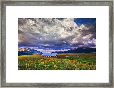 Crested Butte Morning Storm Framed Print by Darren  White