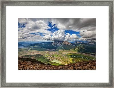Crested Clouds Framed Print