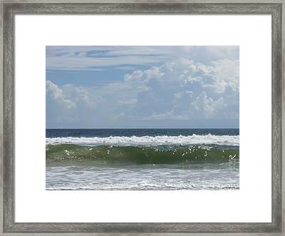 Cresting Wave Framed Print