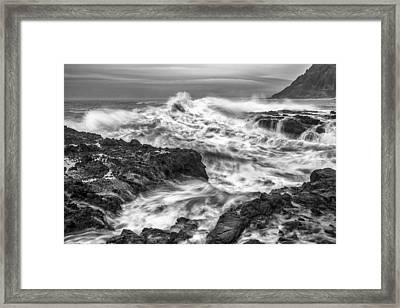 Cresting Wave Framed Print by Jon Glaser