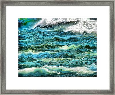 Cresting Waves Part 1 Framed Print