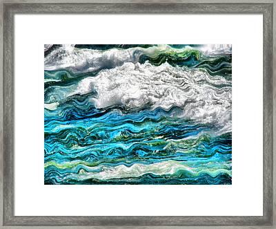 Cresting Waves Part 2 Framed Print