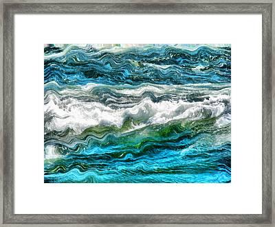 Cresting Waves Part 3 Framed Print