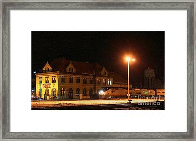Creston Depot Framed Print