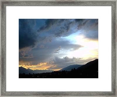 Creston Storm Framed Print by Mavis Reid Nugent