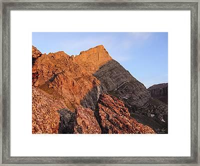 Crestone Needle Sunrise Framed Print by Aaron Spong