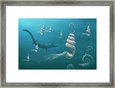 Cretaceous Sea Framed Print