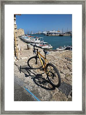 Crete Bicycle Framed Print