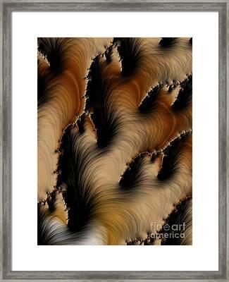 Crevasses  Framed Print by Heidi Smith