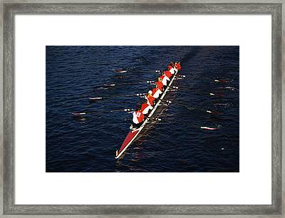 Crew Boat At Head Of Charles Regatta Framed Print by Panoramic Images