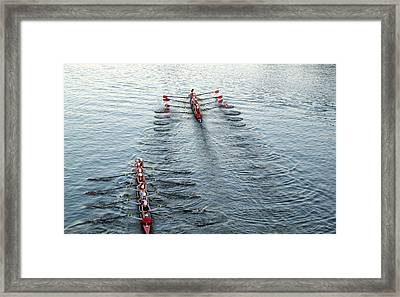 Crew Boston Prep Framed Print by Barbara McDevitt