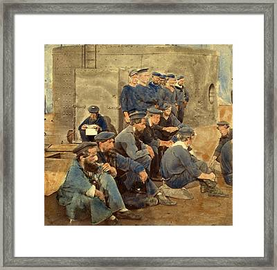 Crew Of Monitor, Hampton Roads Framed Print by Litz Collection