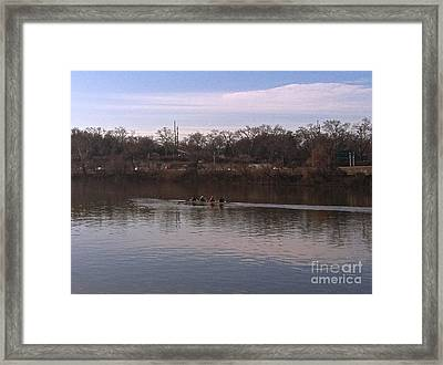 Crew On The Schuylkill - 1 Framed Print
