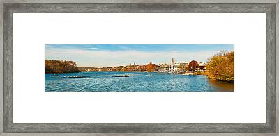 Crew Teams In Their Sculls Framed Print by Panoramic Images