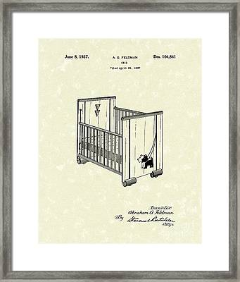 Crib 1937 Patent Art Framed Print