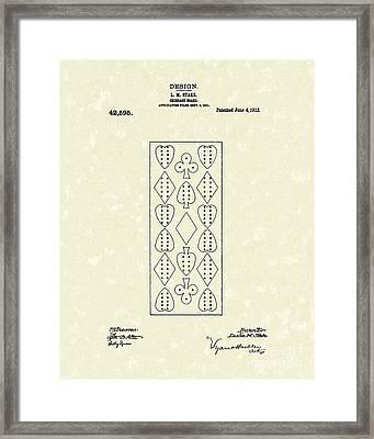 Cribbage Board 1912 Patent Art Framed Print by Prior Art Design