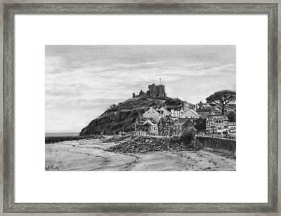 Criccieth Beach Wales Uk Framed Print