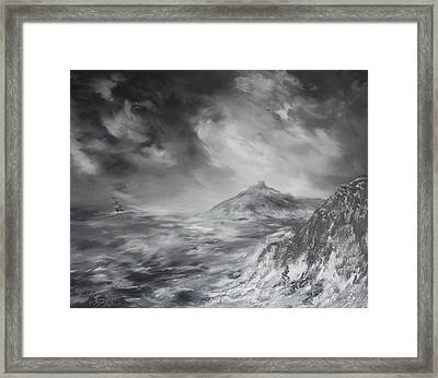 Criccieth Castle North Wales Framed Print by Jean Walker