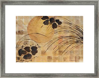 Cricket And The Moon Framed Print by Patricia Novack