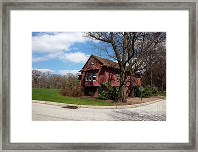 Cricket Building At Haverford College Framed Print